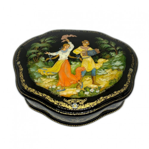 """Lacquer miniature of Palekh """" Harmonist"""""""