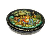 "Lacquer miniature Palekh "" Princess frog"""