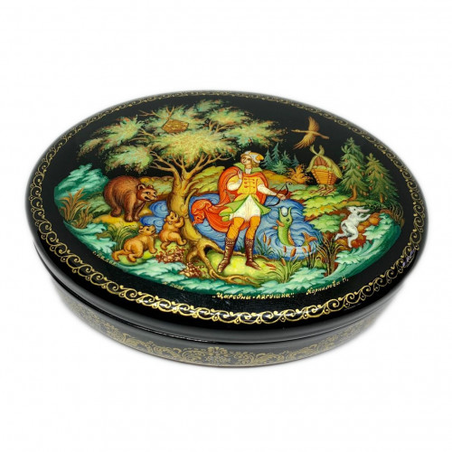 "Lacquer miniature Palekh "" Princess frog"""
