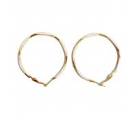 """Earrings """"Golden rings"""" thin, white"""