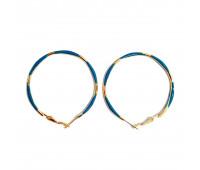 "Earrings ""Golden rings"" thin, blue"