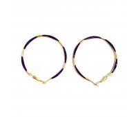 "Earrings ""Golden rings"" thin, pink"