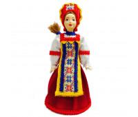 """Кукла в народном костюме """"Сударушка"""", керамика, ткань, высота 17 см"""