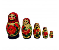 "Matryoshka ""Vyatskaya"", 5 pieces (Nesting doll)"