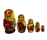 "Matryoshka ""Vyatskaya, in sundress"", 5 pieces (Nesting dolls)"